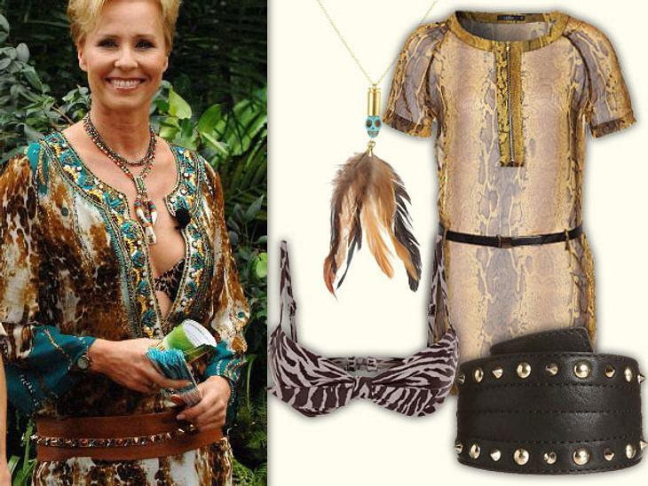 Sonja Zietlow: Ihr sexy Dschungelcamp-LookEtwas wilder zeigt sich Sonja Zietlow im Etno-Look mit Brauntönen.