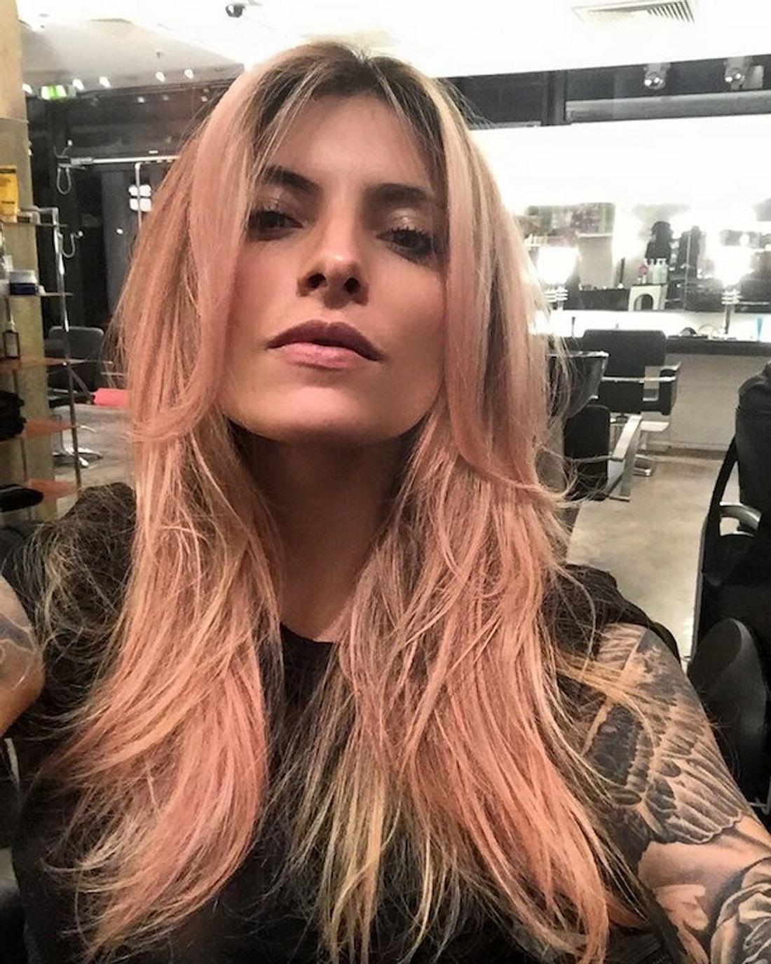 Sophia Tomalla: Mit rosa-blonden Haaren ins neue Jahr