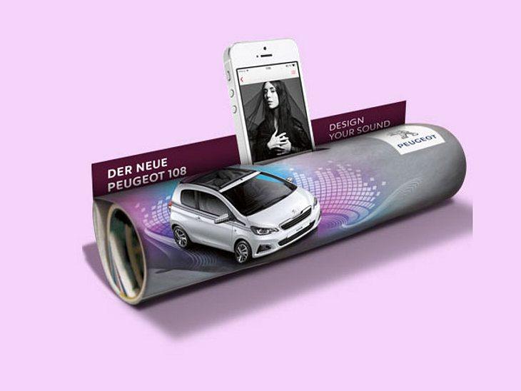 Rollen rockt! Die Peugeot 108 Soundtube für unterwegs
