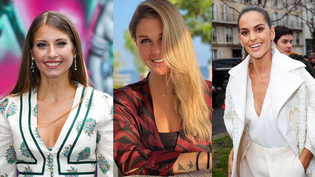 Spielerfrauen Cathy Hummels, Lina Meyer und Izabel Goulart