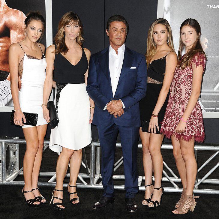 Sylvester Stallone und seine Familie
