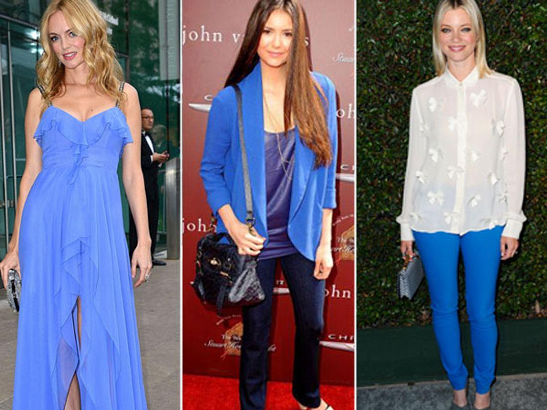 Star-Style: Die Promis machen blau! - Bild 1