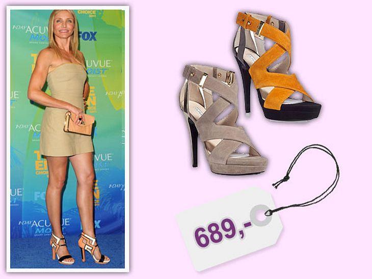 Star-Style: Das kosten die Designer-TeileCameron Diaz  steht auf die Schuhe des Labels Burak Uyan. Die Schuhe kosten um 600 Euro. Gesehen bei: www.stylebop.com