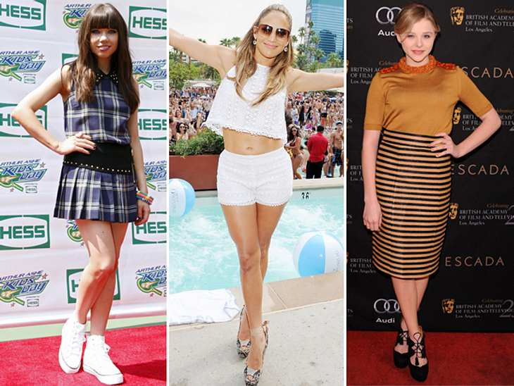 """Style-Chaos: Stars, die sich zu jung oder viel zu alt kleiden14 oder 40? Beides eine schlechte Wahl, wenn man 25 Jahre alt ist. Einige Stars haben offenkundig große Probleme damit, sich ihrem Alter entsprechend zu kleiden.Mit """"Schuluni"""