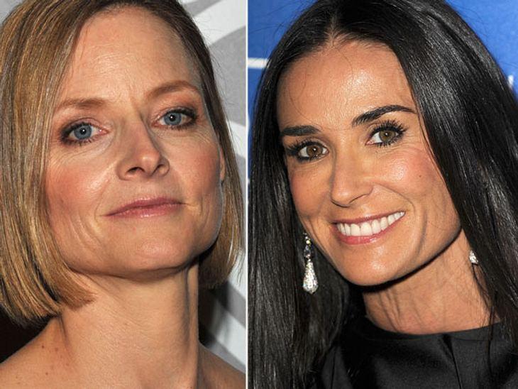 ,Diese Stars sind gleich altDass beide Schauspielerinnen schon über 50 sind, sieht man ihnen nicht an. Trotzdem konnte sich Demi Moore (51) durch unzählige Beauty-Eingriffe optisch jünger halten als Jodie Foster (51).