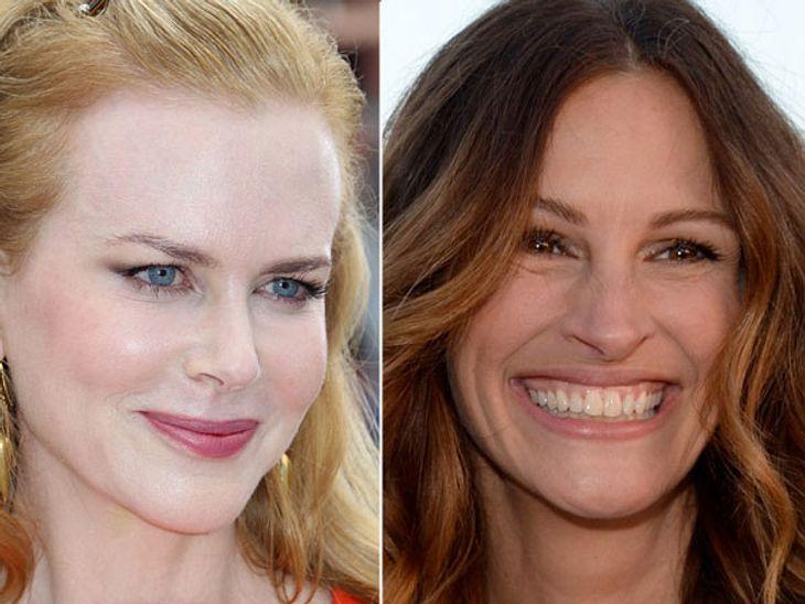 ,Diese Stars sind gleich altDie Botox-Schnute gegen das Strahlelächeln. Man will Julia Roberts (47) hier nicht von Schönheits-OPs freisprechen, aber selbst, wenn sie was hat machen lassen, dann ist es viel gelungener als bei Nicole Kidman (