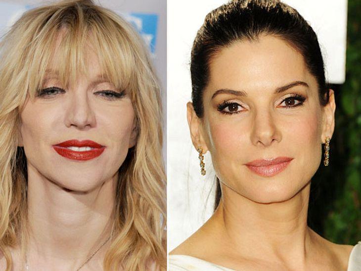 ,Diese Stars sind gleich altAuch hier sieht man, was Drogen so anrichten können. Auch wenn Sandra Bullock (50) scheinbar gebotoxt ist, sieht Courtney Love (50) im Vergleich aus wie ein Wrack.
