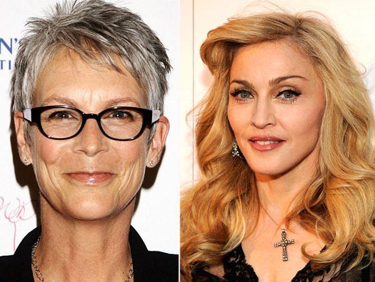 ,Diese Stars sind gleich altSo natürlich wie Jamie Lee Curtis (56) könnte Madonna (56) auch aussehen, wenn sie nichts hätte machen lassen.