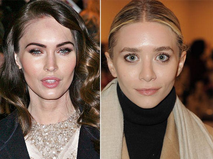,Diese Stars sind gleich altAuch hier ist es schockierend anzuschauen, wie zwei so junge Frauen mit 28 aussehen können: Megan Fox (28) mit ihrem überoperierten Gesicht und Ashley Olsen (28), die dagegen wie eine Zwölfjährige wirkt.