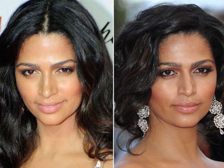 Star-Make-Up: Ein Unterschied wie Tag und NachtBei Camila Alves (30) herrscht sogenannte Tag- und Nachtgleiche. Nur hier und da ein bisschen mehr Akzente gesetzt, aber sonst identisch!