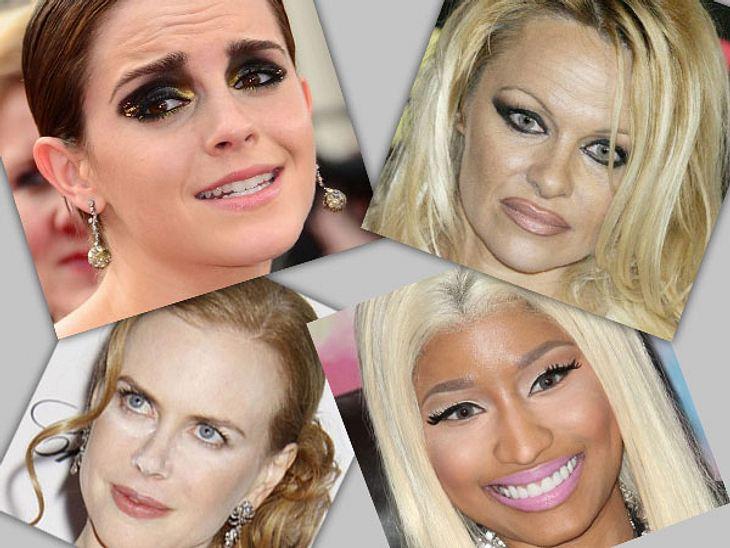 Die Make-Up-Pannen der StarsEigentlich ist es mit professionellen Stylisten unmöglich, so schlecht geschminkt zu sein. Doch einige Stars beweisen, dass man selbst mit professioneller Hilfe vor schlimmen Make-Up-Pannen nicht gefeit ist. Ob n