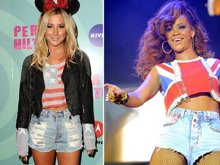 Die Promis stehen auf Stars and StripesDie Stars bekennen Flagge! Rihanna, Ashley Tisdale & Co. setzen derzeit in Sachen Fashion auf Blau-Rot-Weiß - und das nicht nur während der Präsidentschaftswahl...Der Stars and Stripes-Look ist vie