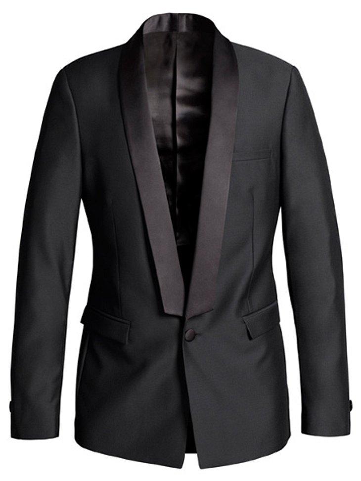 """Stars tragen """"Versace for H&M"""": Chace Crawford,Sakko, um 150 Euro.Hier geht es zur gesamten Kollektion """"Versace für H&M"""""""