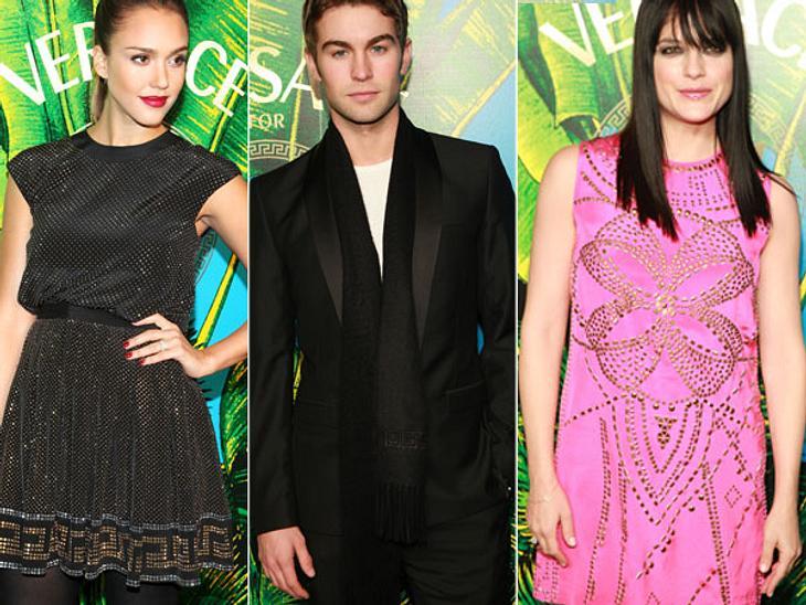 """Stars tragen """"Versace for H&M"""",Ab dem 17. November 2011 ist in rund 300 """"H&M""""-Filialen und im Internet die """"Versace for H&M""""-Kollektion zu haben. Donnatella Versace hat sich mit dem schweidschen Mod"""