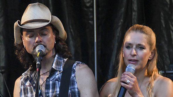 Stefanie Hertel und Ehemann Lanny - Foto: Imago