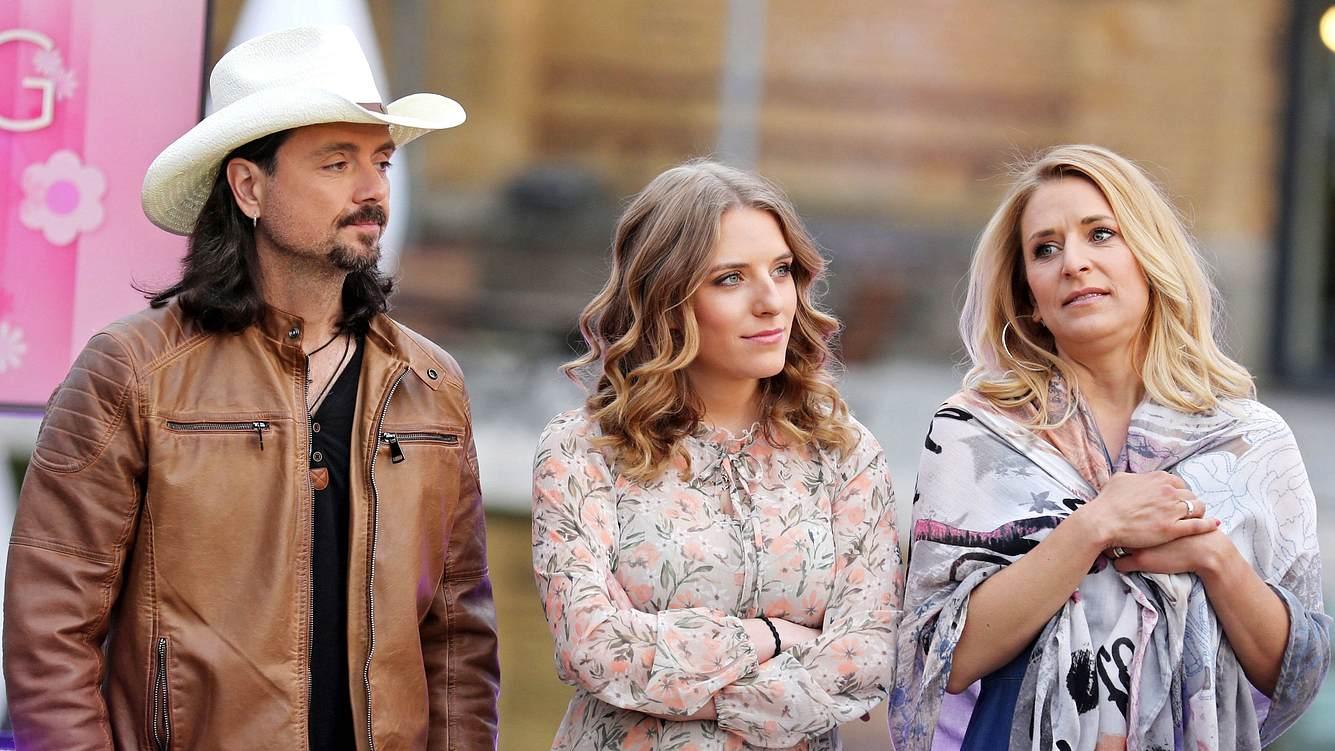 Stefanie Hertel mit Ehemann Lanny und Tochter Johanna