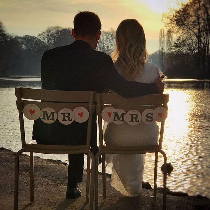 Sven Hannawald hat seine Freundin Melissa geheiratet