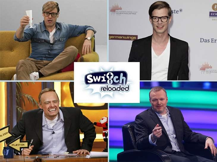 """Die parodierten Promis aus """"Switch reloaded""""Stefan Raabs zuppeln am Jacket, Heidi Klums quietschige Stimme, Joko Winterscheidts Lachanfälle  die Comedians von """"Switch reloaded"""" kennen die Macken und Ticks der Stars. Und"""