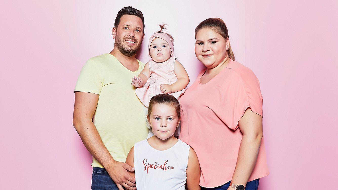 Sylvana Wollny und ihre Familie