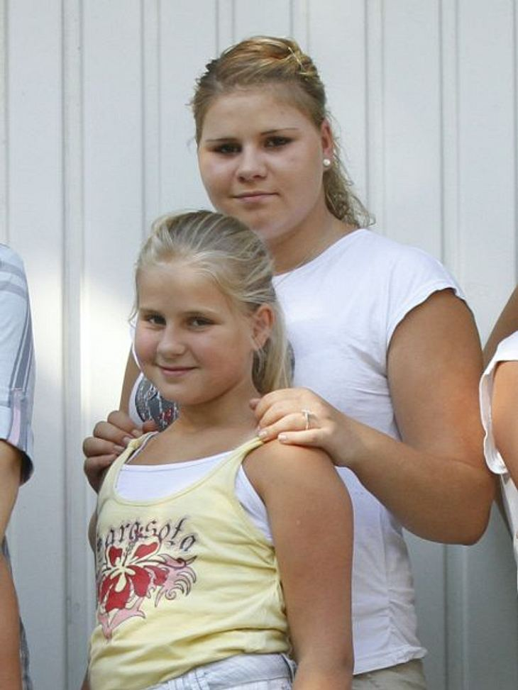 Sylvana Wollny (hinten) ist schwanger
