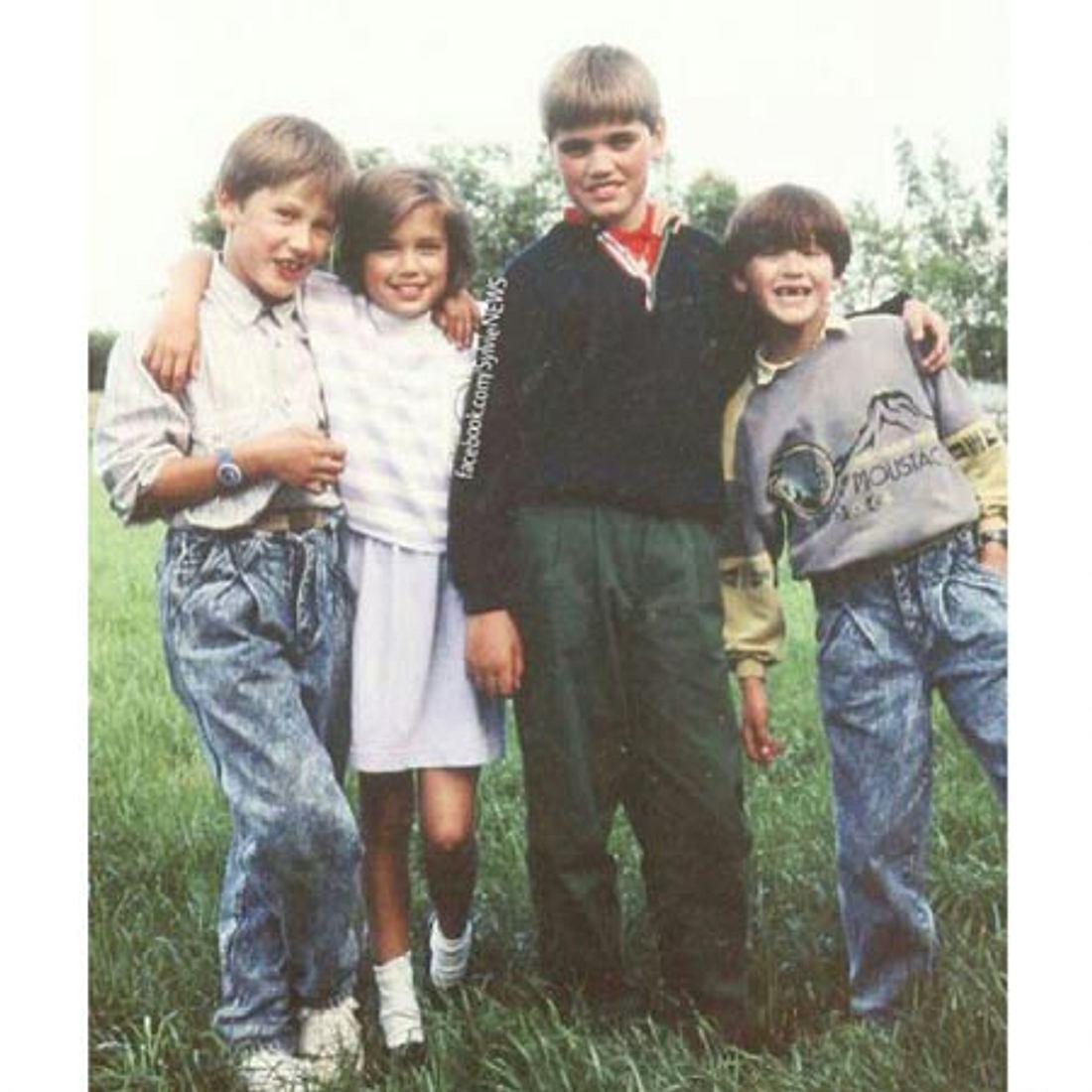 Sylvie Meis mit ihrem Bruder und zwei Cousins