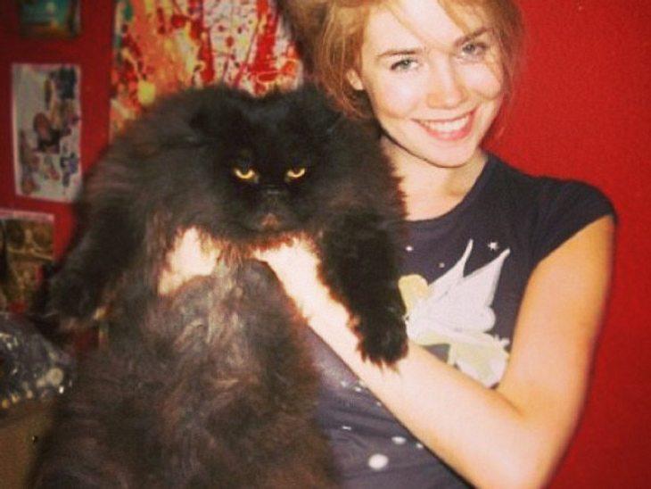 Anlässlich des Tags der Katze postete Palina Rojinski ihre beachtliche Kitty, die sichtlich weniger Spaß an diesem Foto hatte.
