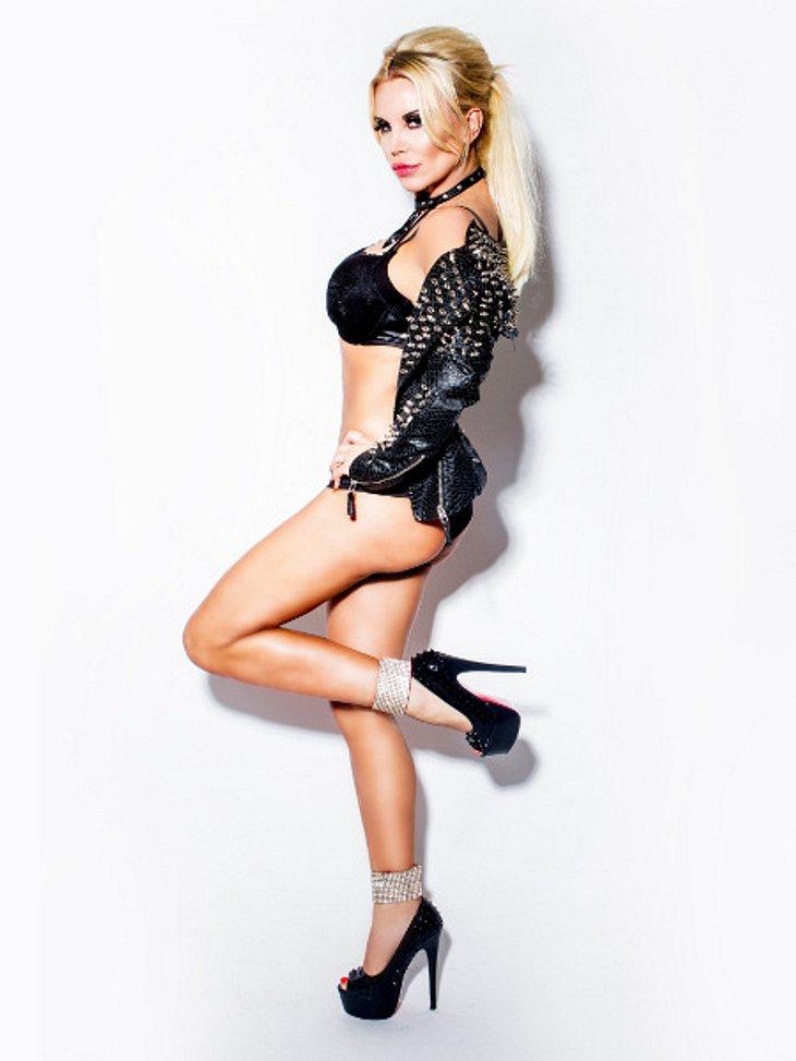 Sexy posierte Tatjana Gsell beim Fotoshooting.
