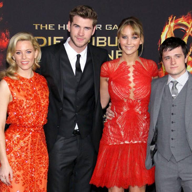 """Elizabeth Banks, Liam Hemsworth, Jennifer Lawrence und Josh Hutcherson haben mit """"Die Tribute von Panem"""" beste Chancen auf einen MTV Movie Award"""