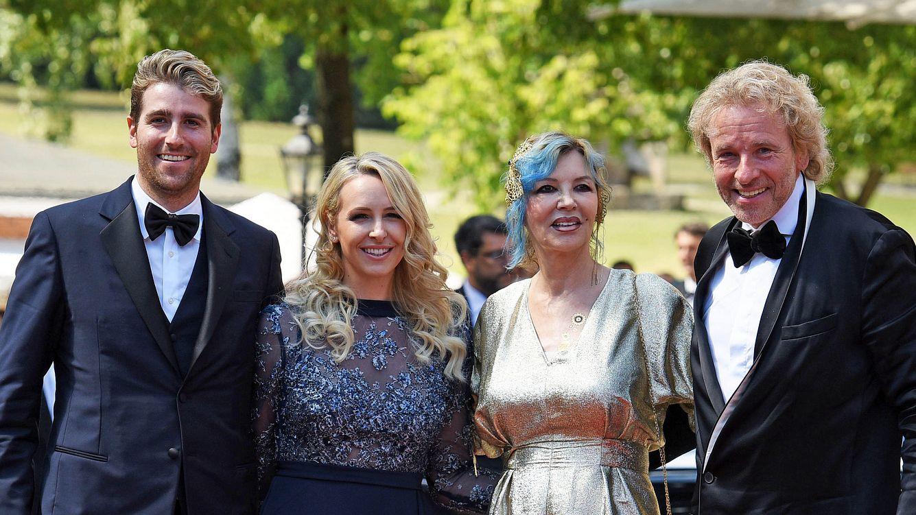 Thomas Gottschalk mit Thea und Sohn Roman bei den Bayreuther Festspielen