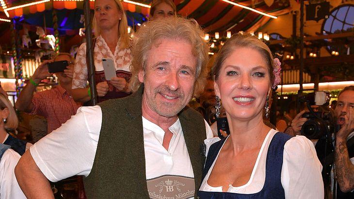 Thomas Gottschalk und Freundin Karina Mroß besuchen das Oktoberfest