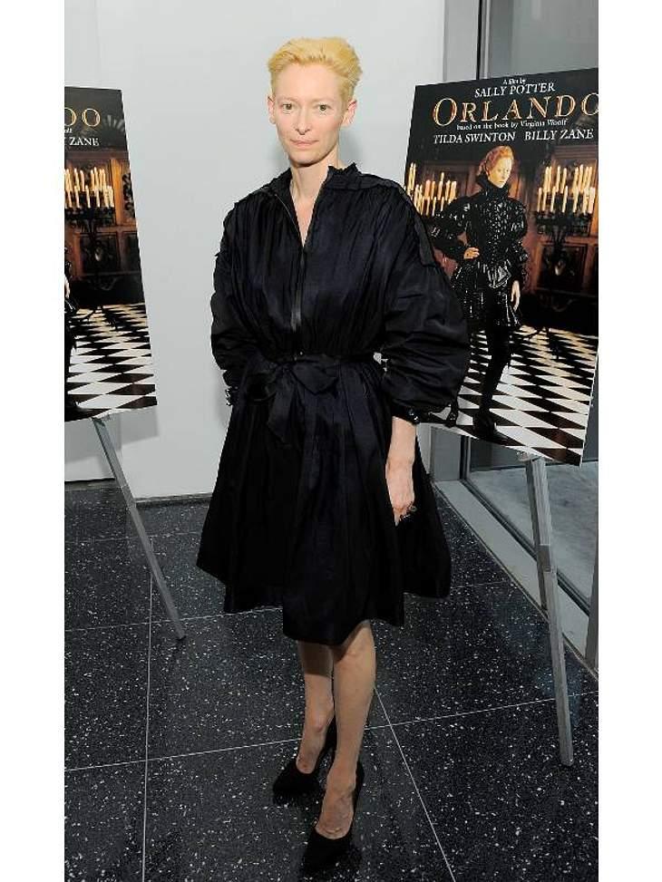"""Die Oscar-Preisträgerin Tilda Swinton belegt den siebten Platz der """"Harper's Bazaar Best Dressed""""-Liste. ,"""