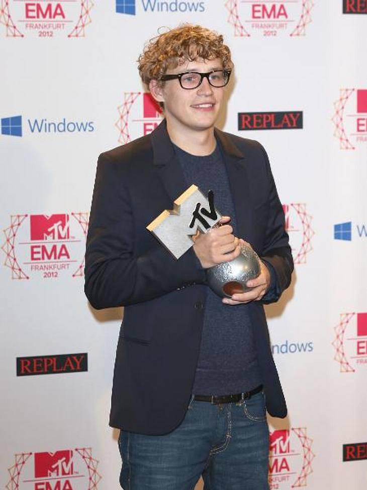MTV Europe Music Awards 2012 - Die HighlightsSänger Tim Bendzko (27) schnappte sich den Preis für den besten deutschen Künstler.