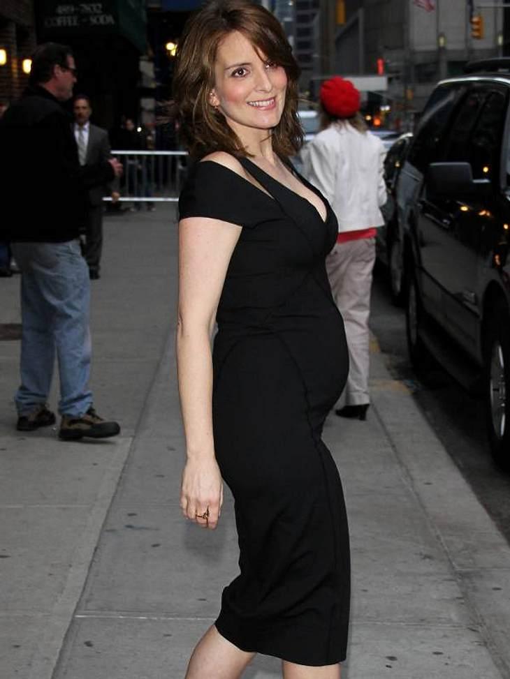 """Schwangere Stars""""30 Rock""""-Star Tina Fey bekommt mit 41 ihr zweites Kind."""