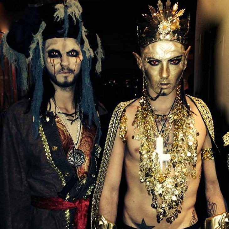 Bill und Tom Kaulitz verkleideten sich als Pirat und Pharao.