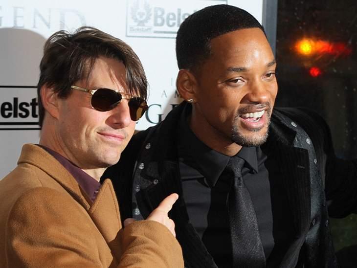 Promi-BFFs - Durch dick & dünnMan sieht Tom Cruise (50) und Will Smith (43) oft auf den Filmpremieren des jeweils anderen. Und auch sonst sprechen die beiden Hollywood-Schauspieler oft und gern über ihre Freundschaft. So würden sie sich