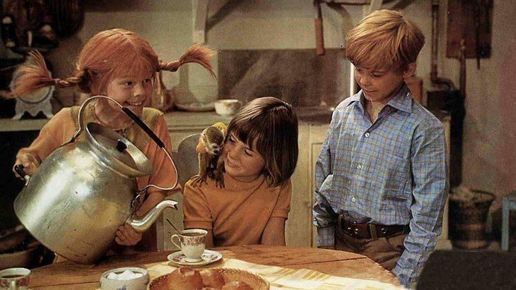 Pippi, Annika, Tommy und Herr Nilsson