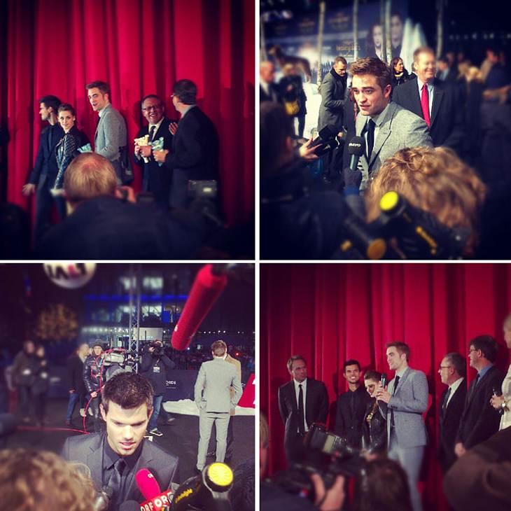 """""""Breaking Dawn 2""""-Premiere in Berlin - Wir waren für Euch dabeiNach Los Angeles, London und Madrid war Berlin die finale Promo-Station für Robert Pattinson, Taylor Lautner und Kristen Stewart. Während viele deutsche """"Twilight"""