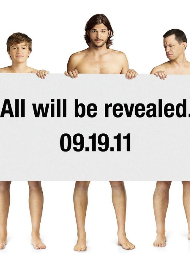 """Am 19. September 2011 gibt es einen neuen Mann bei """"Two And A Half Men"""". Ashton Kutcher wird nach dem Serientod von Charlie Harper bei der Erfolgsserie einsteigen. Hier ist das offizielle Plakat dazu. Wir sind gespannt!"""