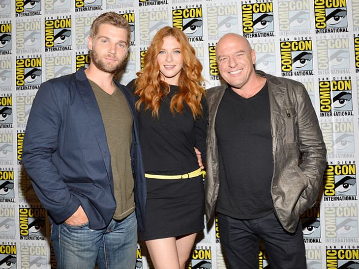 "Die ""Under the Dome""-Stars Mike Vogel, Rachelle Lefevre und Dean Norris"