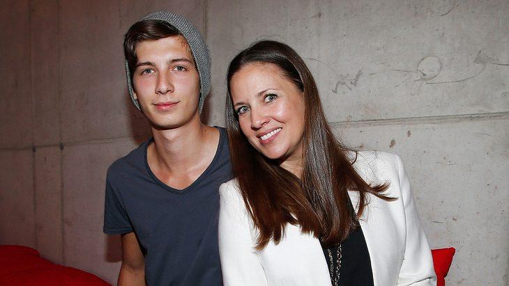 Valentin Schweiger mit seiner Mutter Dana Schweiger 2014