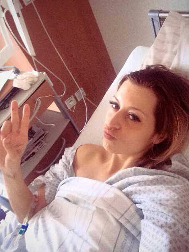 Verena Kerth: Selfie aus dem Krankenhaus