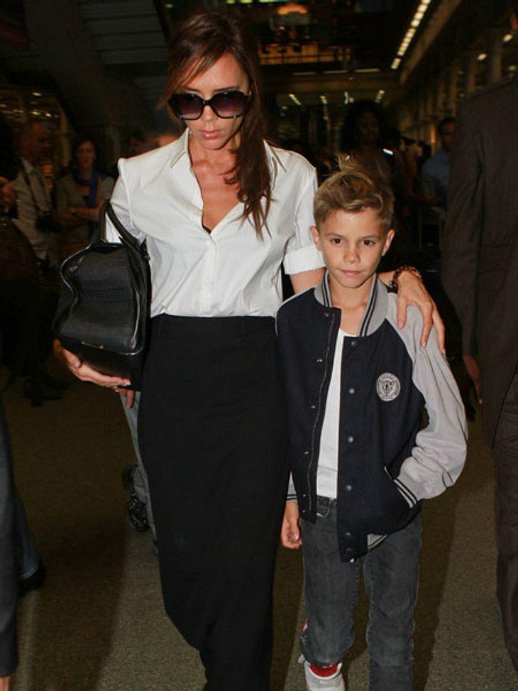 Victoria Beckham mit Sohn Romeo. Vielleicht bekommt der bald ein neues Geschwisterchen.