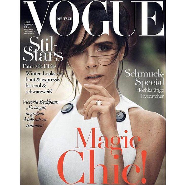 Victoria Beckham ist jetzt Vogue-Covermodel