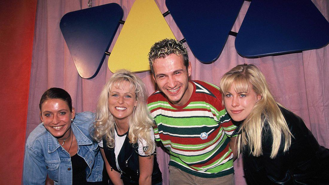 Die Viva Moderatoren Krüger, Arnold, Tschanz und Ziolkowski 1999