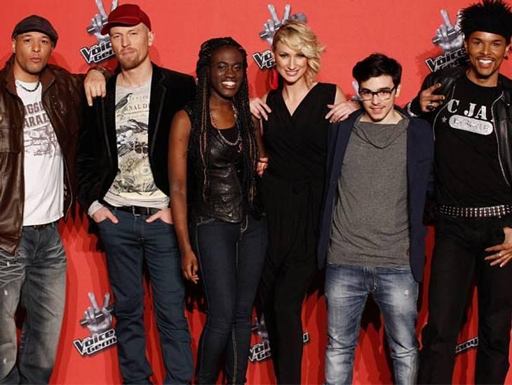 """The Voice Of Germany"" ,Team ""Boss Hoss"" mit Sahar Haluzy, C. Jay, Bennie McMillan, Ramona Nerra, Ole und Ivy Quainoo."