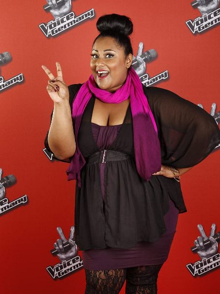"""The Voice of Germany"" 2012 Michelle Perera (27) aus Rom (Italien)."