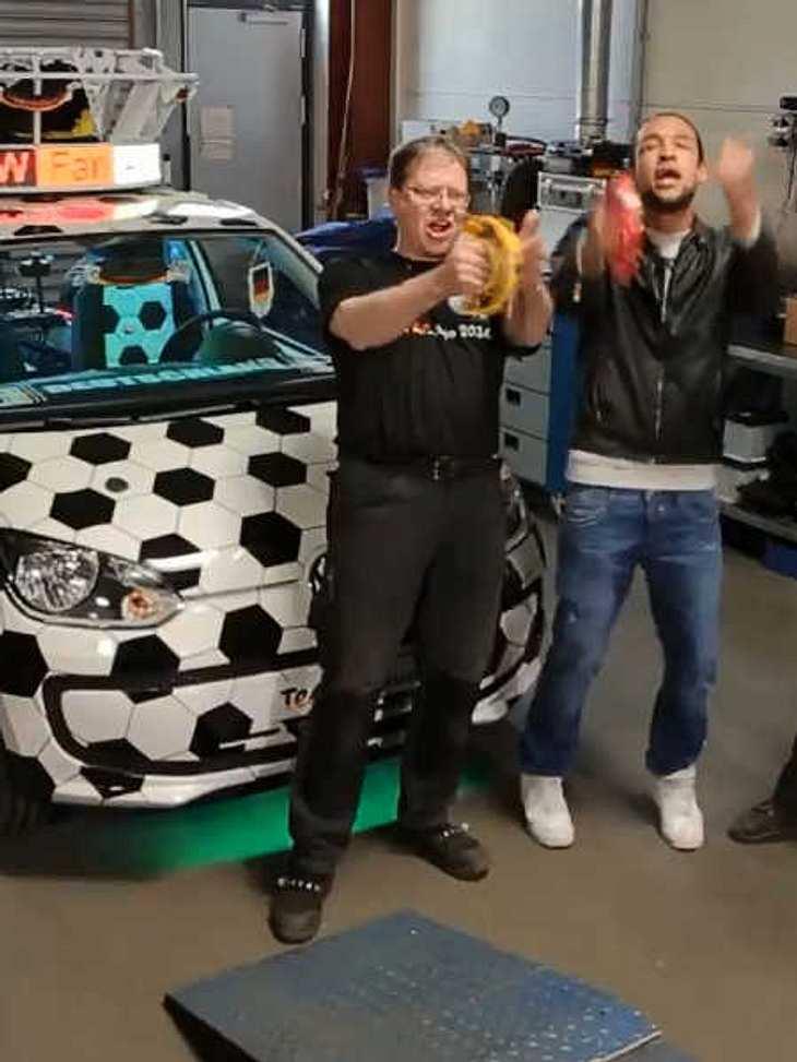 Simon Desue hat die meisten Stimmen für sein Fan-Auto bekommen.