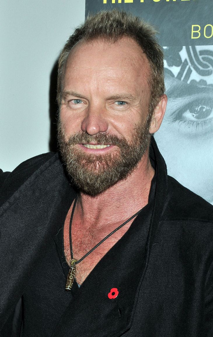 Sting gibt Songs Orchester-Dreh