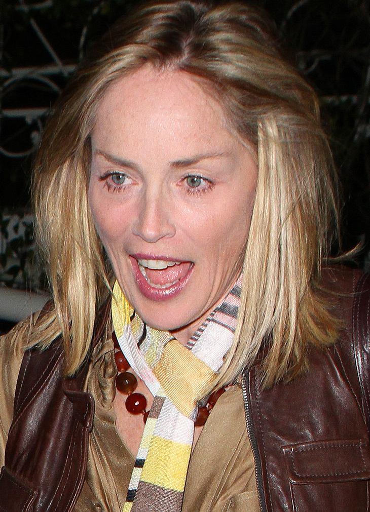 Sharon Stone fliegt Insekt ins Kleid