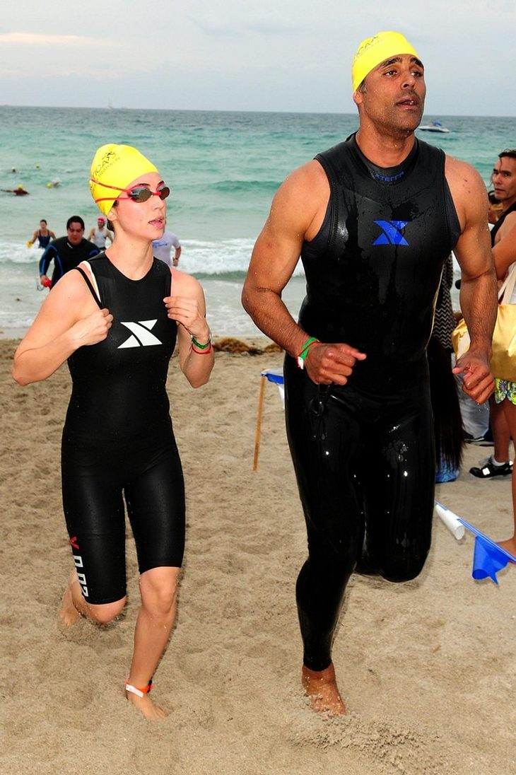 Eliza Dushku absolviert Miami-Triathlon